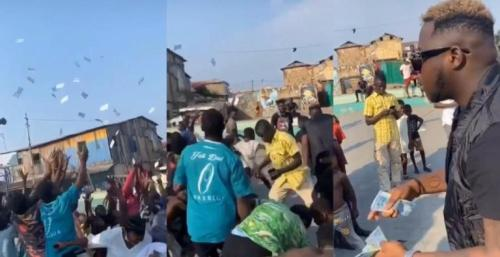 Medikal Made The Day Fans By Spraying Bundles Of Cash During A Video Shoot - Watch Here