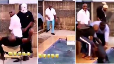 Photo of Davido Rushed To Help A Man He Pushed Into Pool During Video Shoot – Video
