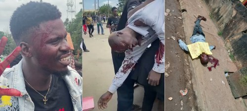 #EndSARS Protesters Attacked By Armed Thugs With Guns And Machete In Benin - Video