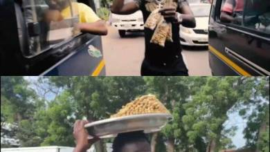 Photo of You Will Love American Comedian Michael Blackson Selling Groundnut – Watch Video