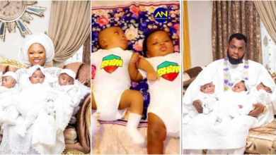 Photo of Rev Obofour Baptizes Triplets Into The Bhim Family As They Rock BHIM Outfits – Video