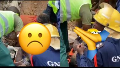 Photo of Watch How Men Rescued A Woman At Akyem Batabi From Collapsed Church Building – Video