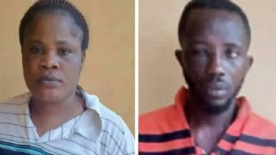 Photo of Man N Woman Arrested For Eating Police Officers Flesh Burnt During #EndSars Protest In Ibadan – Watch
