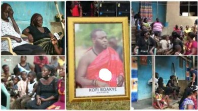 Sad Video - Kofi B's Dead Father Arrive Home In Tears After Son's Funeral