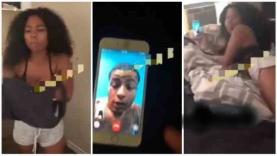 Photo of Guy Fights With Girlfriend After Seeing Her On A Video Call With Another Man Half Naked – Video
