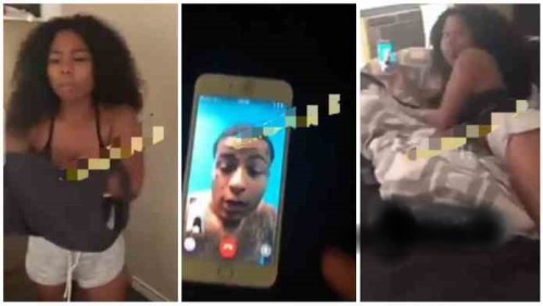 Guy Fights With Girlfriend After Seeing Her On A Video Call With Another Man Half Naked - Video