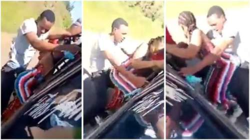 Slay Queen Nearly Die When Twerking With A Guy On A Moving Bus - Video