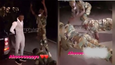 Photo of Stonebwoy Greeted By Military Men With Push Ups – Watch Video Now