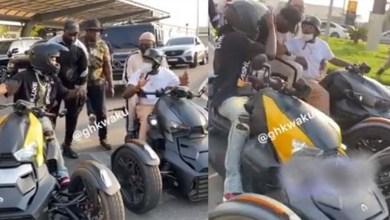 Watch How Stonebwoy N Davido Exist Kotoka Airport On Their Motor Bikes After - Video