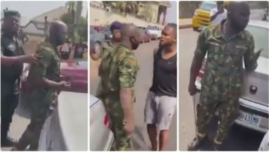 Photo of Footballer Confronts Military Man Who Slaps Him – Watch N See The Outcome