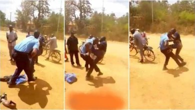 Photo of Man Fights Blow To Blow With Armed Police Officer – Video Dey Trend