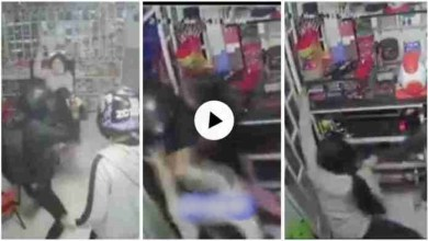 Photo of 14 Year Old Girl Fights Off Robbers With Machete As She Protects Mum When They Stormed Their Store – Video