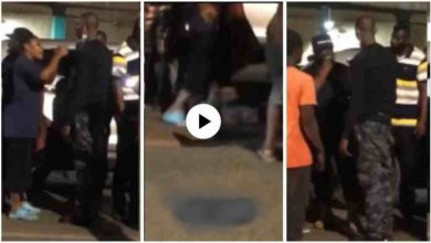 Lady Release A Heavy Slap On Police Officer Who Was Drunk N Hit Her With His Car - Video Below