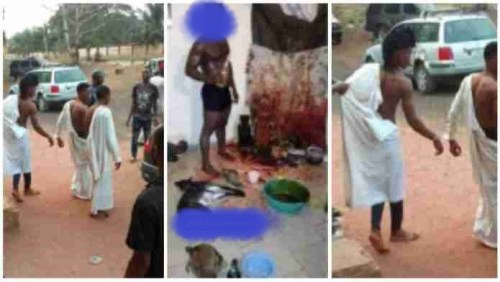 Suspected 3 Yahoo Boys Caught Attempting 2 Use A Lady 4 Rituals - Watch