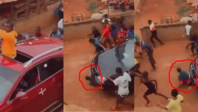 Car Runs Over A Man Who Picking Money From The Ground - Sad Video Below