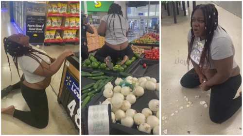 Woman Runs Mad After Taking Overdose Of Hard Drugs In A Supermarket - Video Will Shock U