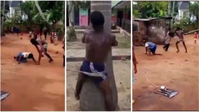 Photo of Boy Tied To Tree N Flogged 500 For Beating His Mother In Public – Video