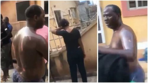 Lady Pours Hot Cooking Oil On Grownup Lover After A Heated Argument - Video