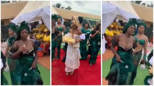 Sexy Bridesmaid Takes Away Bride's Fame As She Gives Free Show - Video