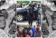 Photo of Motor Riders Holding Guns Pop Up Online After Bullion Van Robbery, Ɔbiaa Ɛndwane – Video