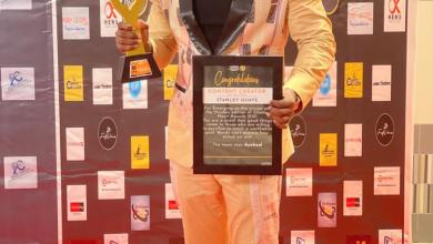 Photo of STANBELOVE BAGS HIS FIRST AWARD