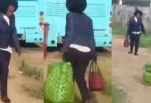 Lady Travelling Abroad Go Mad After Arriving At The Airport - Video