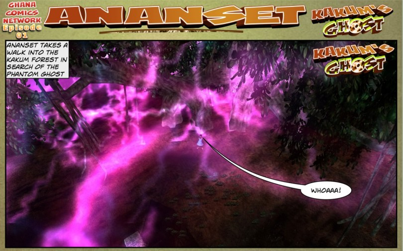 Ananset takes a walk into the kakum forest in search of the phantom ghost