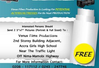 venus films production audition