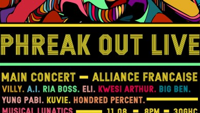 Photo of Ria Boss, Kwesi Arthur, A.I., others for 2017 Phreak Out Live on August 11 @ Alliance Francaise
