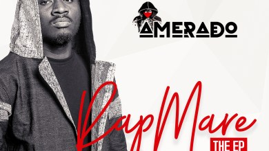 Photo of Amerado outdoors artwork and tracklist for debut work