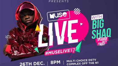 Photo of Big Shaq 'Muse Live 2017' party tickets going for 150GHC & 250GHC
