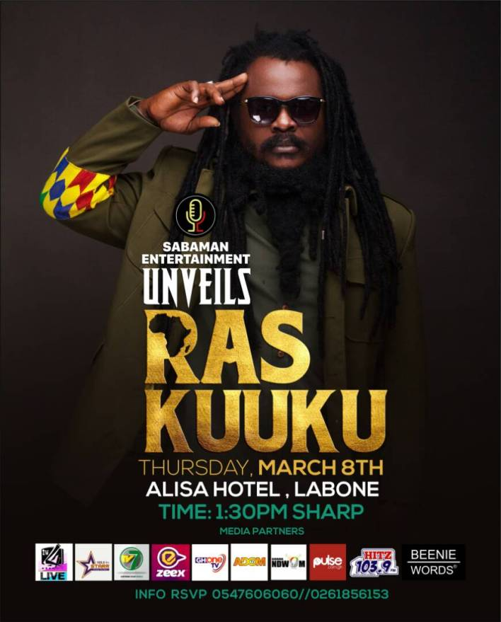 Sabaman Entertainment to unveil Ras Kuuku tomorrow, March 8