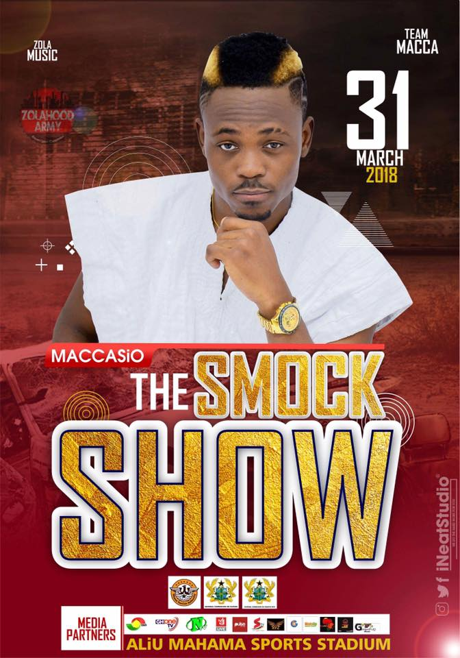 Maccasio holds 'The Smock Show' on March 31st