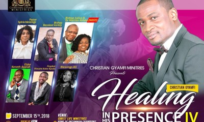 Christian Gyamfi Ministries to mark 4th edition of 'Healing in His Presence'