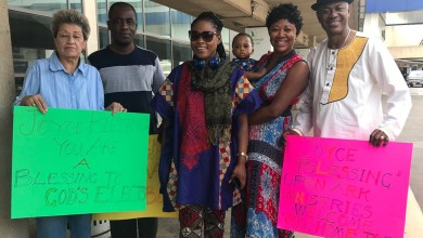 Photo of Joyce Blessing arrives in USA ahead of 'I Swerve You' tour