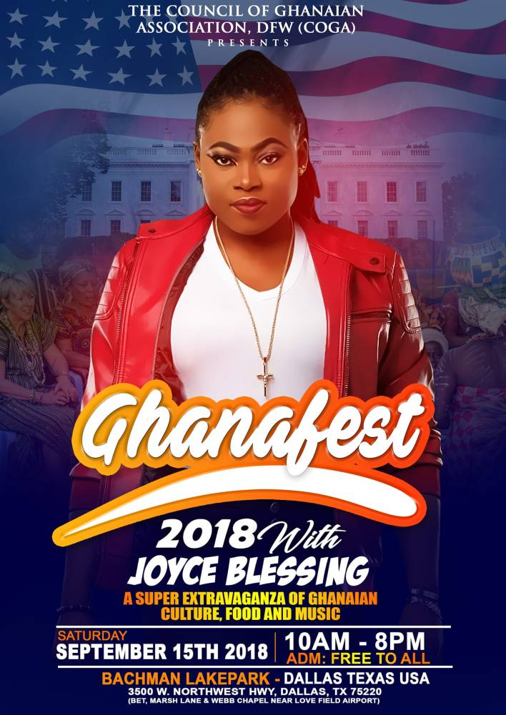 Joyce Blessing to headline GhanaFest event in USA this Saturday