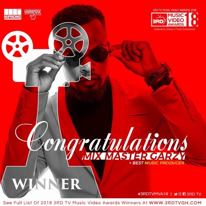 Mix Master Garzy dazzles at 3RD TV Music Video Awards
