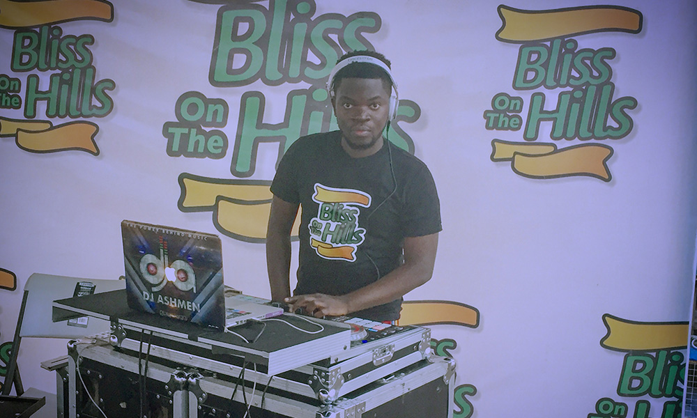 DJ Ashmen entertained thousands at Bliss On The Hills 2018
