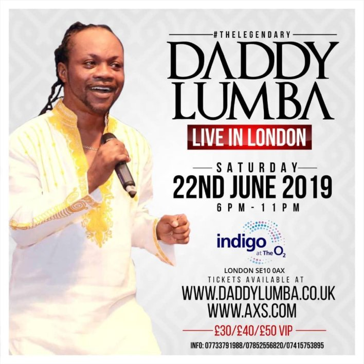 Daddy Lumba braces up for London concert