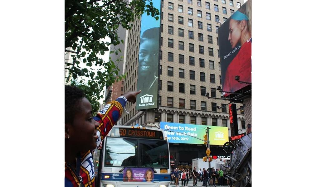 New York's Times Square hosts DJ Switch on billboard
