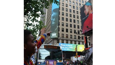 Photo of New York's Times Square hosts DJ Switch on billboard