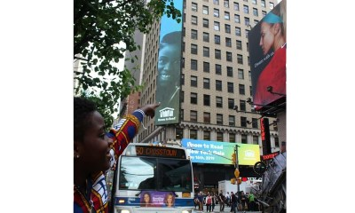 New York's Times Square hosts DJ Switch on billboard