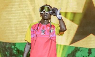 Patapaa's oversized snow mask at Ghana Meets Naija '19