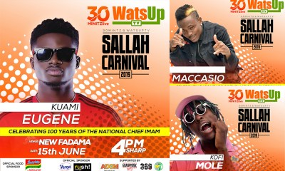 Kuami Eugene, Tinny, others to perform @ Sallah Carnival