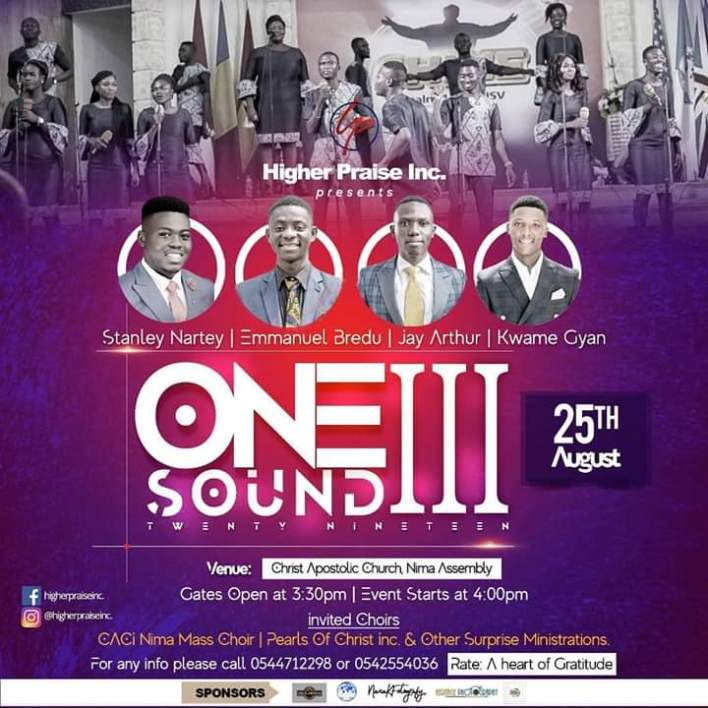 All set for Higher Praise Inc's One Sound Concert 2019