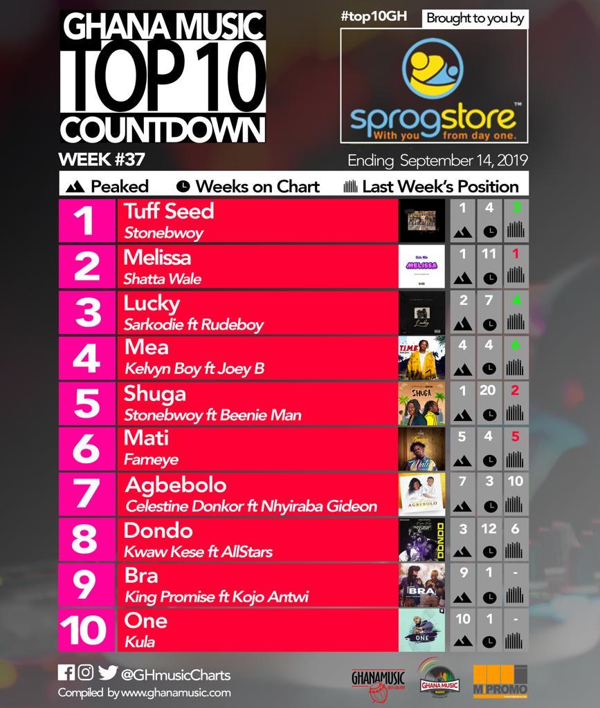2019 Week 37: Ghana Music Top 10 Countdown
