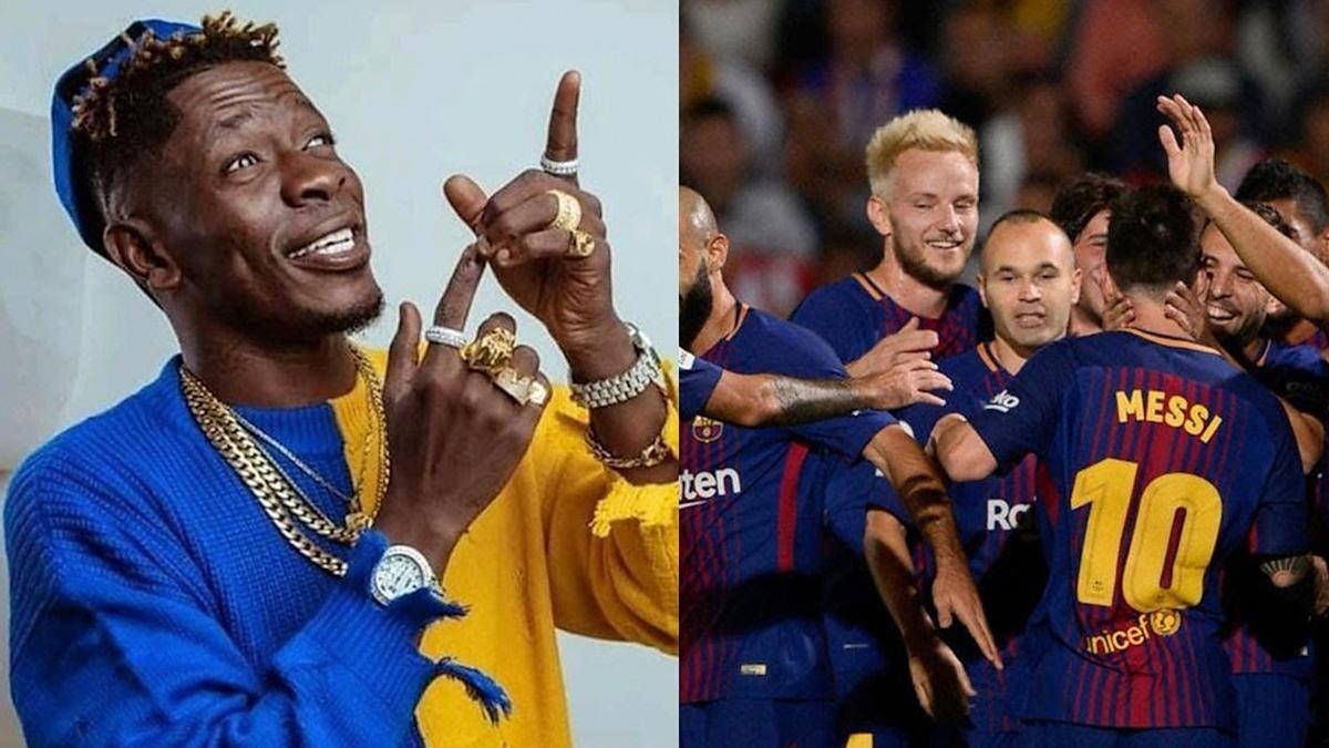 Major! FC Barcelona enjoy Shatta Wale's Borjor
