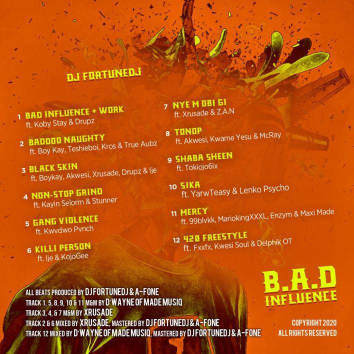 New! DJ FortuneDJ drops B.A.D Influence