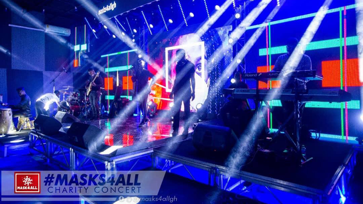 Lamisi, Prince Bright, Yaw Sarpong, Mr Drew steal show at Mask4All Charity Concert
