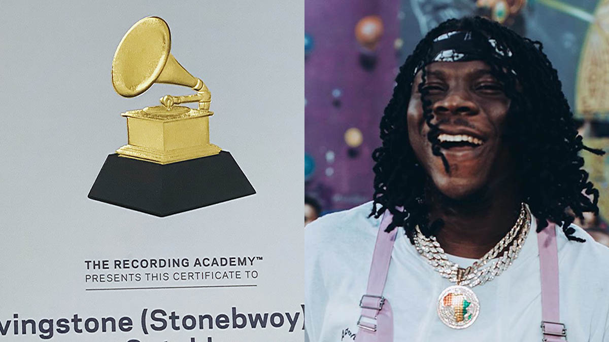Stonebwoy flaunts Grammy Participation Certificate